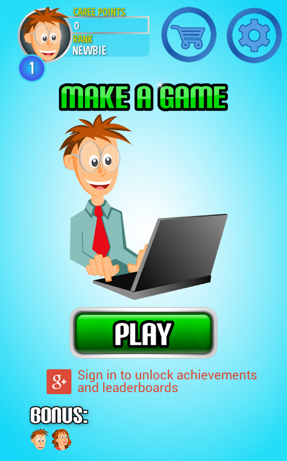 how to make a game application