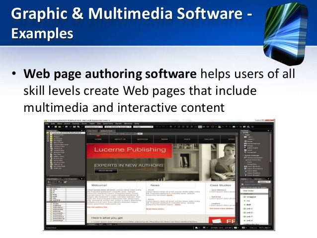 graphics and multimedia application software