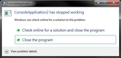 werfault exe application error windows 7