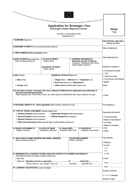 download turkish visa application form