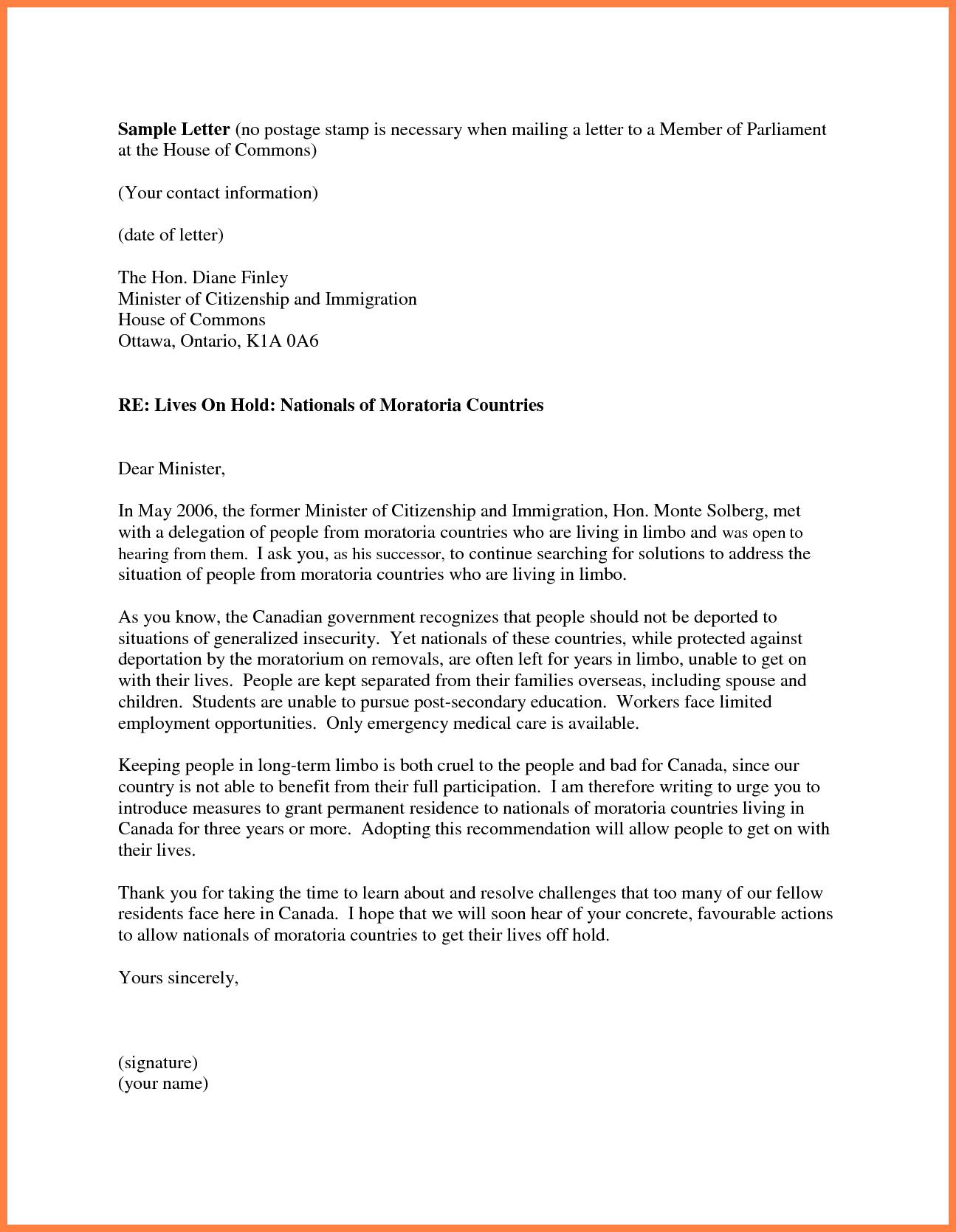 sample cover letter for citizenship application