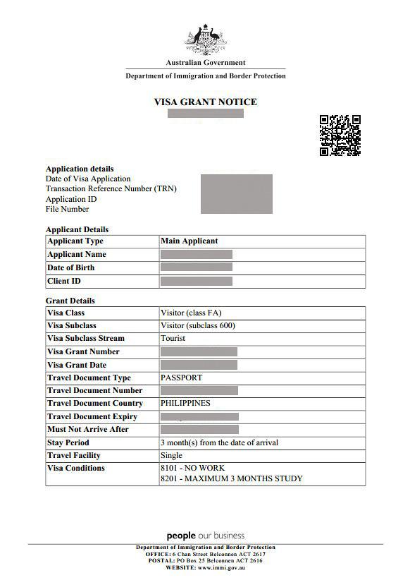 australian visa application status philippines
