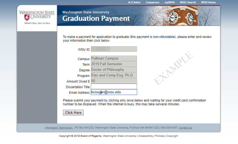 application for certificate of payment