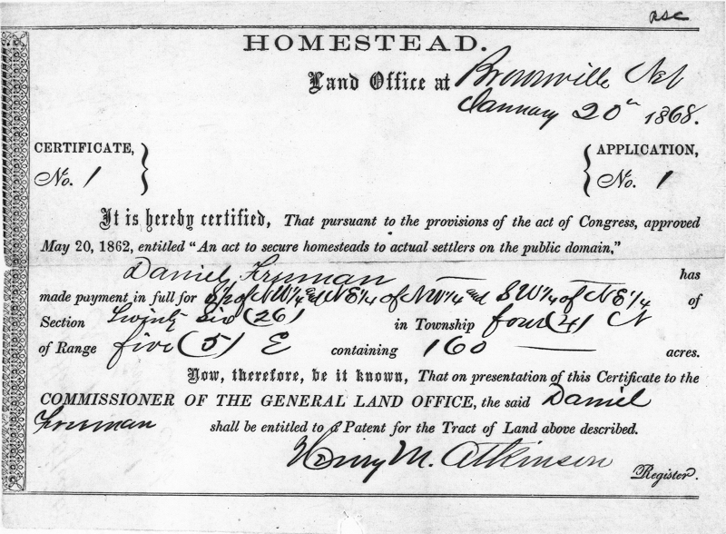 application for new home grant