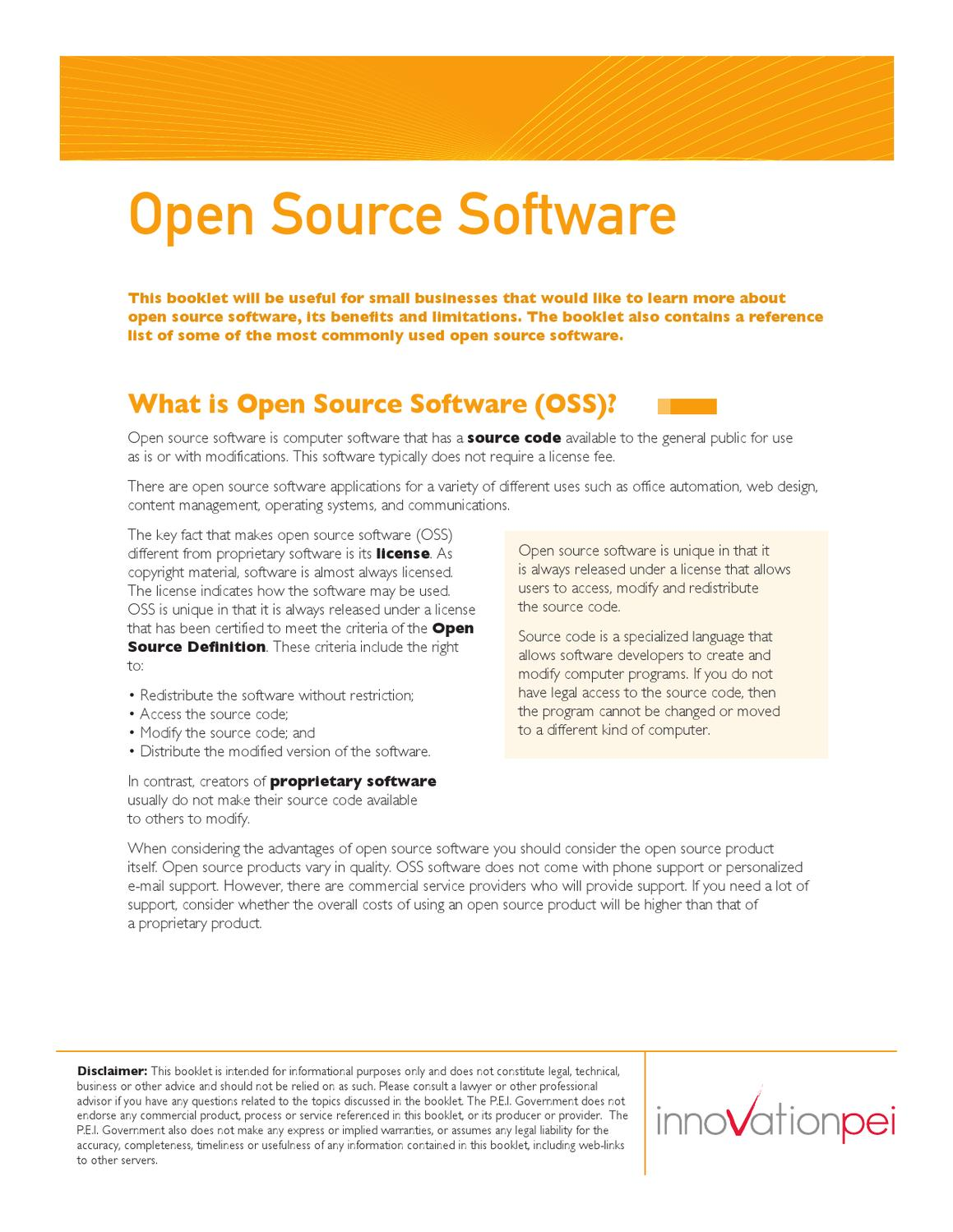 example of open source application software