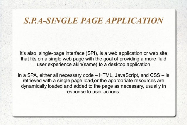 python single page web application