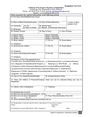 bangladesh visa application form pdf