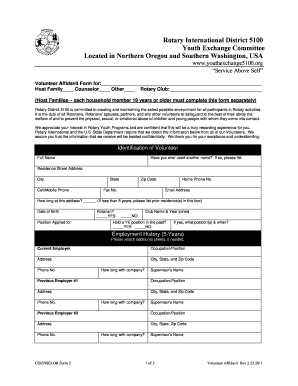 rotary youth exchange application form