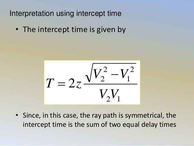 application of seismic refraction method