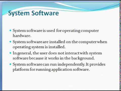 system software and application software difference