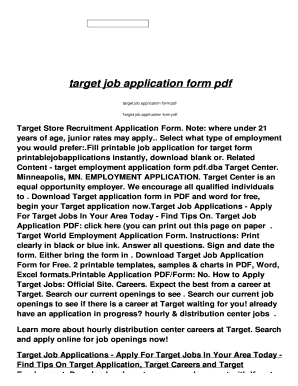 target job application form australia