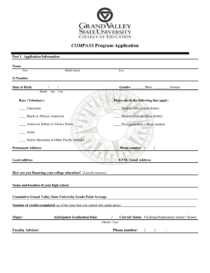 grand valley state university application