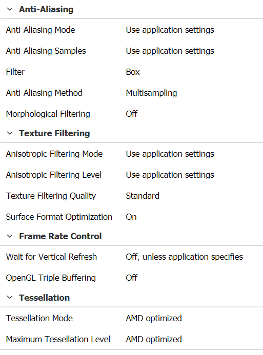 amd catalyst control center 3d application settings