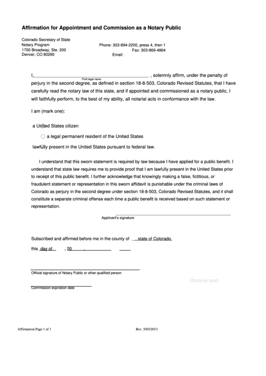 application for appointment as notary public