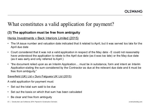 application for payment construction industry
