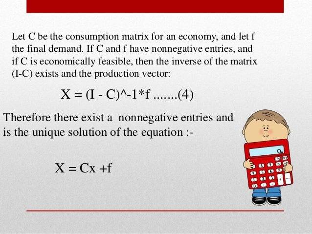 application of matrices in economics