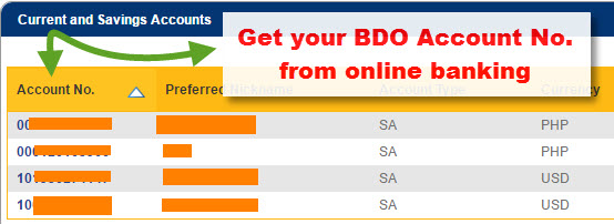 bdo online application for atm