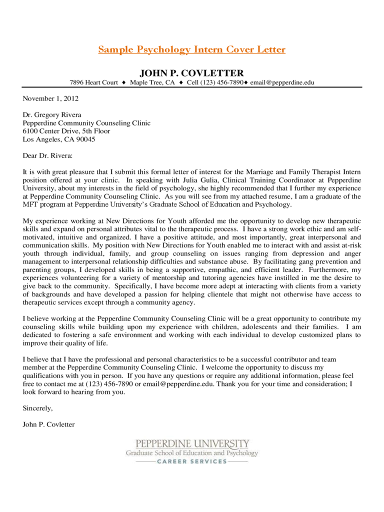 university application cover letter sample