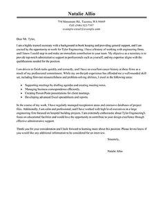 cover letter for secretary job application