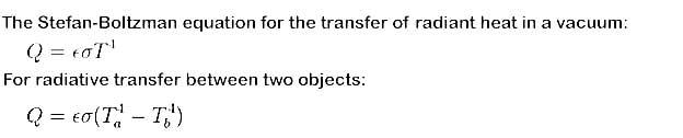 stefan boltzmann law is applicable for heat transfer by