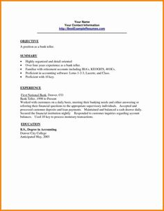 sample application letter for employment in a bank