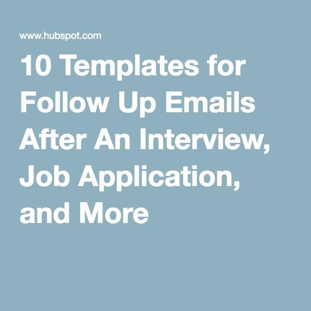 follow letter for job application