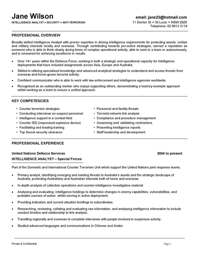 government job application cover letter