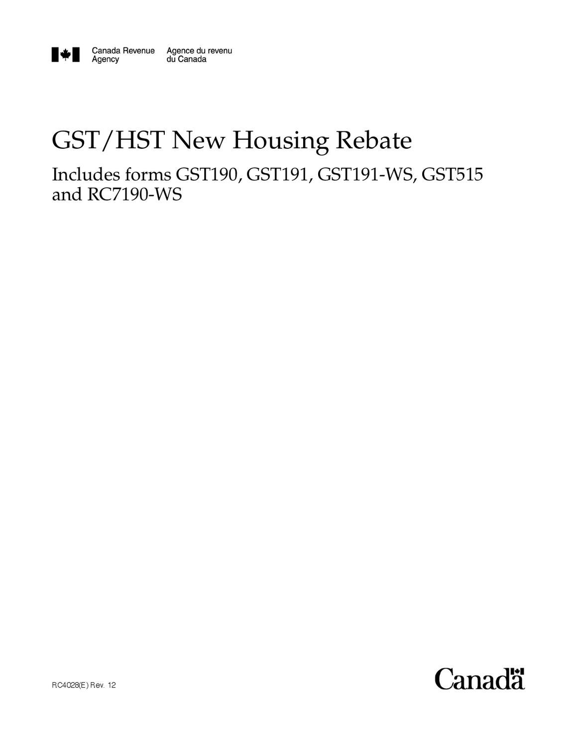 gst hst new housing rebate application for owner built houses