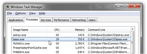 lsass exe application error windows xp