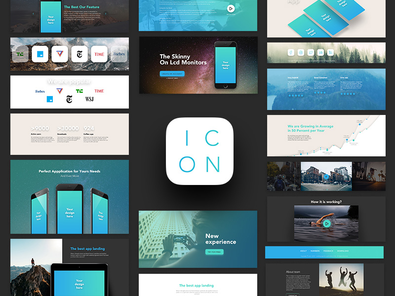 mobile application design template psd