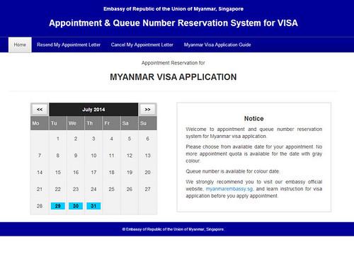 myanmar online visa application form