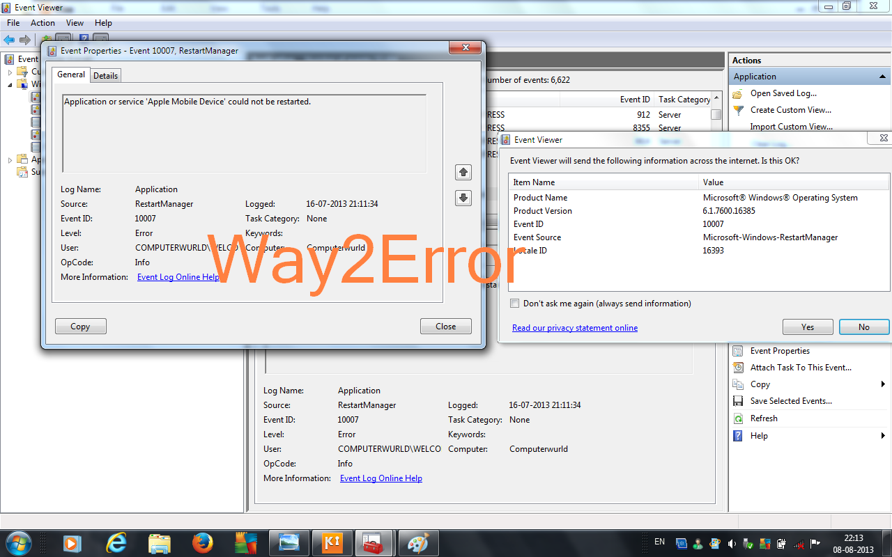 problem event name bex application name iexplore exe