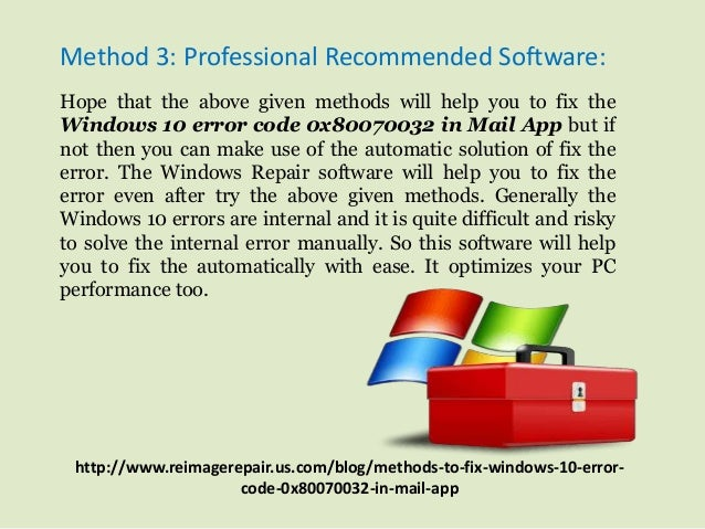 server error in application windows 7