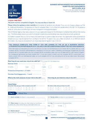 united kingdom visa application form download